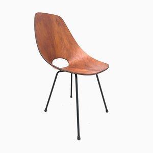 Gebogener Stuhl aus Schichtholz von Vittorio Nobili für Fratelli Tagliabue, 1950er