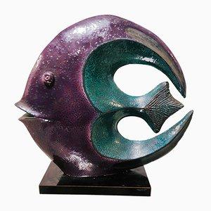 Scultura a forma di pesce di Paolo Granchi