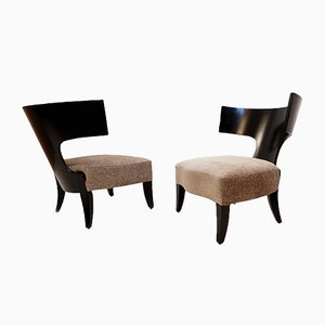 Armchairs by Christian Liaigre, 1970s, Set of 2