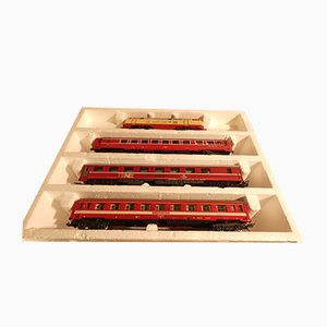 WLAsm 71-80 Deutsche Bahn Euro Night Sleeping and Dining Train Set from Lima, 1980s, Set of 10