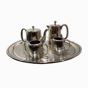 Metal Tea Service Set, 1970s, Set of 5