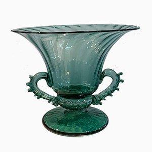 Mallorquinische mundgeblasene grüne Glasschale von Gordiola, 1980er