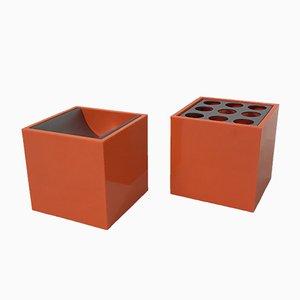 Ensemble Cube by Bruno Munari for Danese, 1957, Set of 2