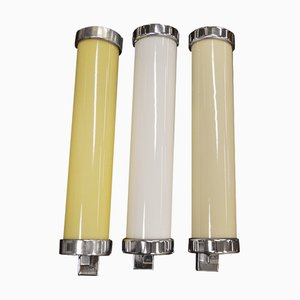 Bauhaus Wandlampen, 1940er, 3er Set