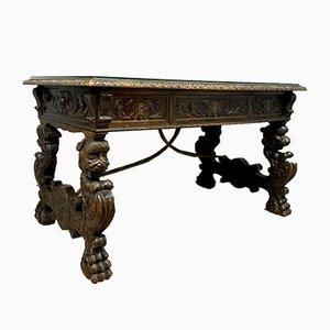 Renaissance Wooden Carved Desk
