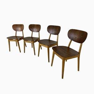 Teak Esszimmerstühle im Skandinavischen Stil von Cees Braakman für Pastoe, 1950er, 4er Set