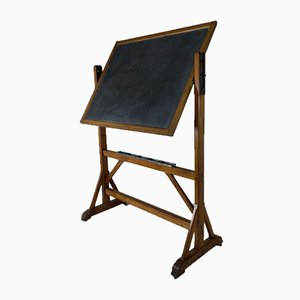 Art Nouveau Double-Sided Blackboard, 1920s