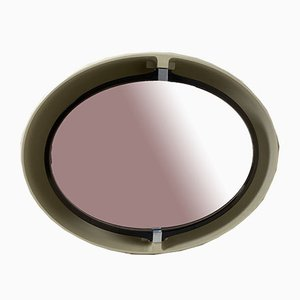 Pivoting and Lighted Oval Mirror from Allibert, 1970s