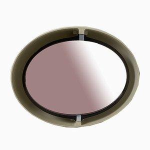 Specchio ovale girevole e illuminato di Allibert, anni '70