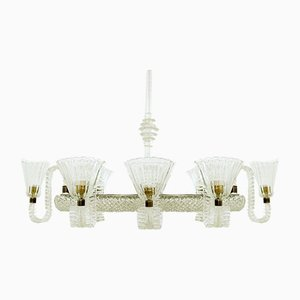 Chandelier with 8 Arms by Ercole Barovier, 1940s