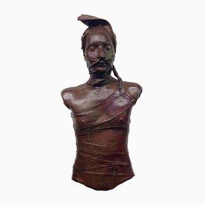 Bust of Woman in Leder von Bruno Baratier