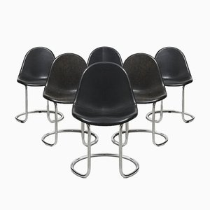 Mid-Century Maya Dining Chairs by Giotto Stoppino for Bernini, Set of 6