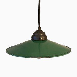 Bauhaus Deckenlampe aus Messing in Grün und Weiß