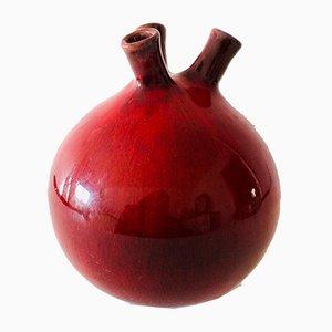Belgische Keramik Vase mit Drei Leuchten von Rogier Vandeweghe für Perignem, 1950er