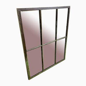Industrielles Fenster aus Eisen mit Spiegel, 1930er