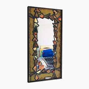 Copper and Brass Mirror, 1960s