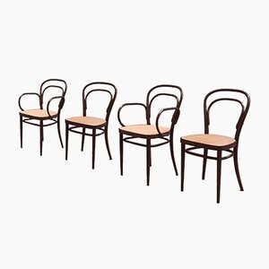 No. 214 Chairs by Michael Thonet for Thonet, 1970s, Set of 4