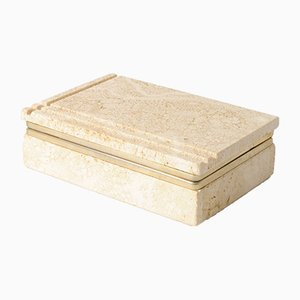 Vintage Italian Travertine Box from Cerri Nestore, 1970s