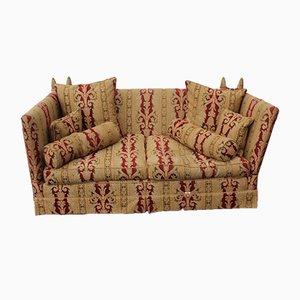 Drop End Sofa in Gold und Rot von Parker Knowle, 1900er