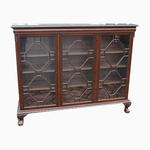Mahogany Pye Crust Edge 3-Door China Cabinet, 1920s