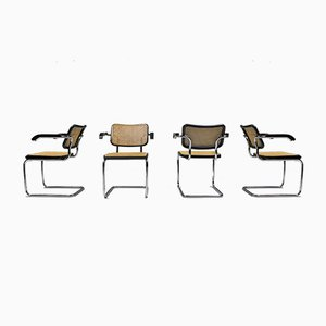Cesca B64 Armchairs by Marcel Breuer for Thonet, 1992, Set of 4