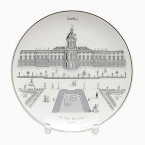 Schloss Charlottenburg Porcelain Plate from KPM Berlin, 1980s