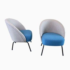Moderne Sessel im Stil von Theo Ruth, 1950er, 2er Set