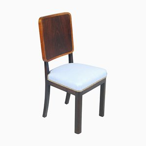 Art Deco Italian Light Blue Side Chair by Osvaldo Borsani for Atelier Borsani Varedo, 1930s