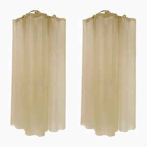 Murano Glass Tube Sconces by Paolo Venini, 1970s, Set of 2