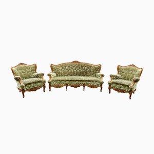 Antike Sofas, 3er Set