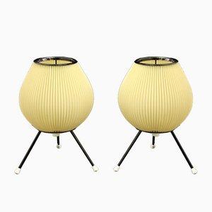Dreibein Tischlampen, 1950er, 2er Set