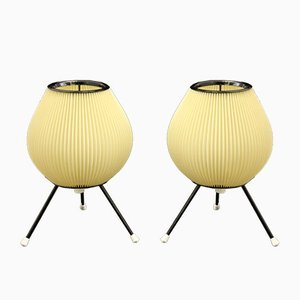 Tripod Table Lamps, 1950s, Set of 2