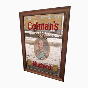Colman's Mustard Advertising Mirror, 1930s