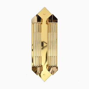 Art Deco Style Glass Rod Wall Sconce from Honsel, 1980s