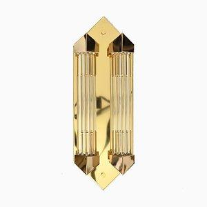 Wandlampe im Art Deco Stil mit Glasstab von Honsel, 1980er