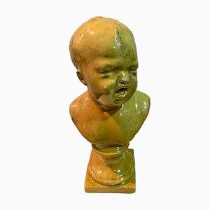 Porcelain Bust of a Child