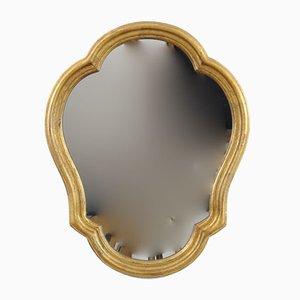 Specchio dorato in stile barocco, anni '50