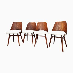Mid-Century Dining Chairs by Oswald Haerdtl for Drevopodnik Holesov, Set of 4