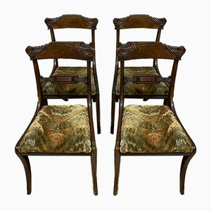Empire Mahogany Dining Chairs, Set of 4