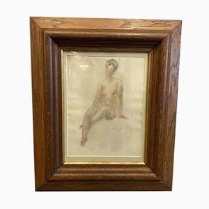 Acquarello di Nudo Femminile, guazzo, 1916