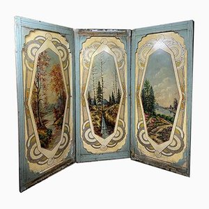 Antique Horse Riding Panels, Set of 5