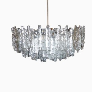 Fuente Crystal Ice Glass Chandelier from Kalmar, 1960s