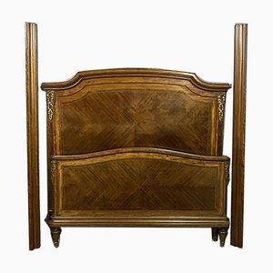 Chaise longue Luigi XVI in intarsio e bronzo dorato