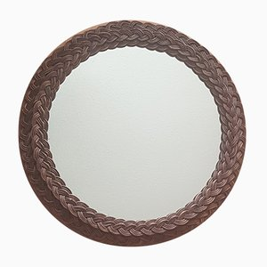 Round Wicker Mirror, 1960s