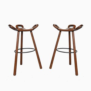 Marbella Brutalist Bar Stools from Confonorm, 1970s, Set of 2
