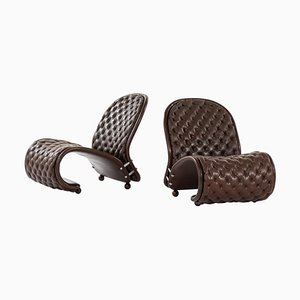 System 1-2-3 Easy Chairs by Verner Panton for Fritz Hansen, Denmark, Set of 2
