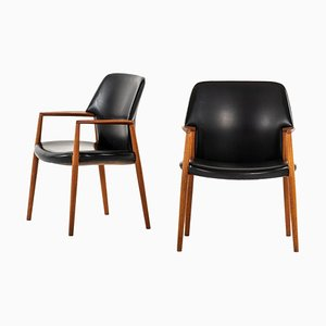 Armchairs by Aksel Bender Madsen & Ejner Larsen for Fritz Hansen, Denmark, Set of 2