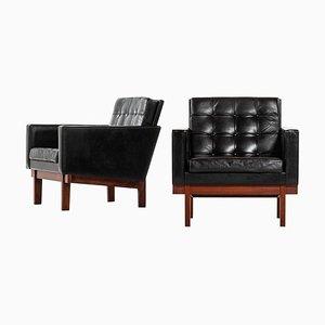 Easy Chairs by Karl-Erik Ekselius for JOC, Sweden, Set of 2