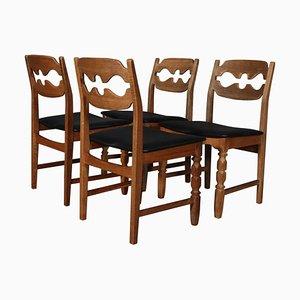 Razorblade Esszimmerstühle von Henning Kjærnulf, 4er Set