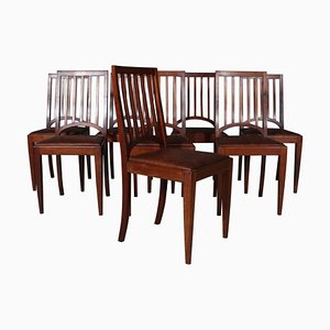 Danish Mahogany Cabinetmaker Dining Chairs, Set of 8